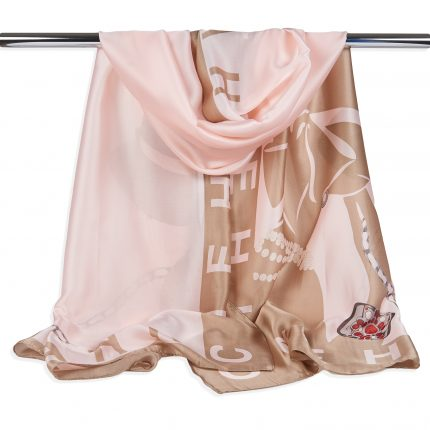 polyester scarf peach